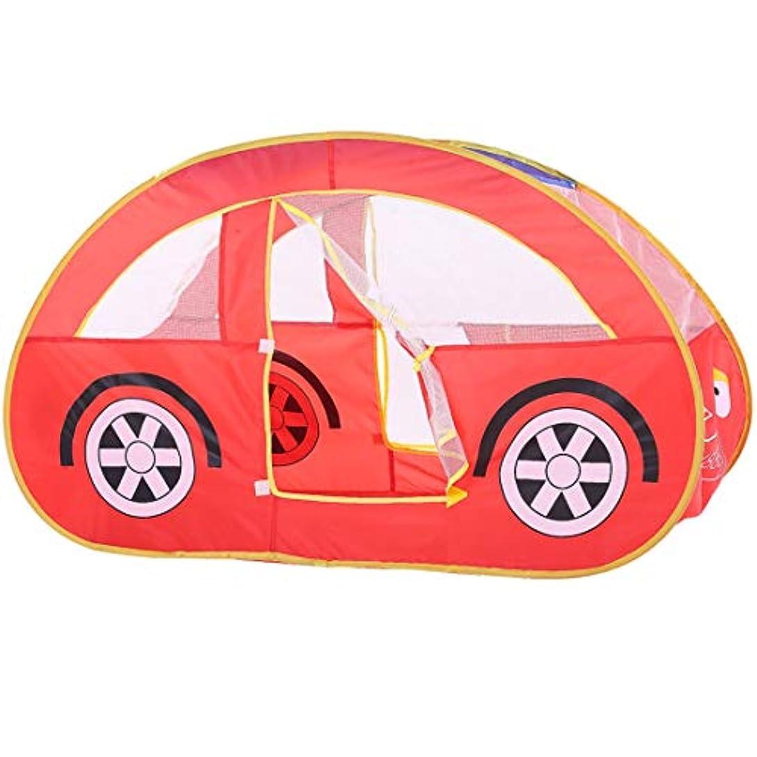 連帯ケープミネラルKAKACITY 子供の遊びテント車のタイプ屋内の折り畳み式のおもちゃ子供の赤ちゃんのためのプレイハウス (色 : レッド)