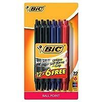 Bic ®格納式ボールペン, 1.0MM, 18ct–マルチカラーインク