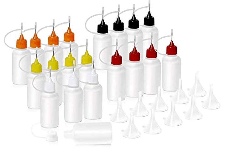 きつくパネル失効HNYYZL 針付き スポイトボトル プラスチック製 電子タバコ 詰め替え容器 液体 貯蔵用 ニードルチップ付 20书漏斗10必备空瓶用于电子烟液体注射