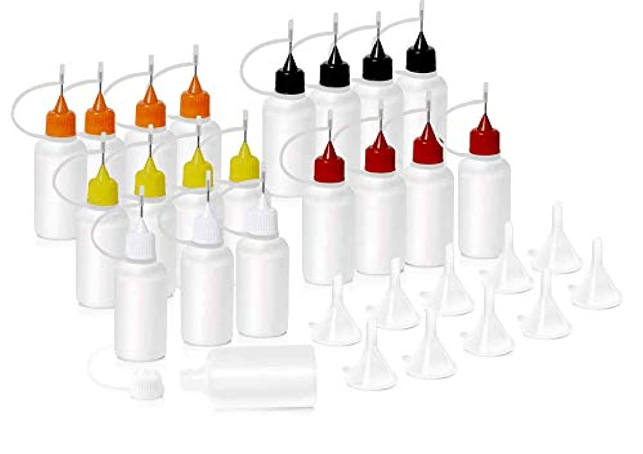 に対応する海外で部分HNYYZL 針付き スポイトボトル プラスチック製 電子タバコ 詰め替え容器 液体 貯蔵用 ニードルチップ付 20书漏斗10必备空瓶用于电子烟液体注射