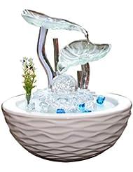 エッセンシャルオイルディフューザー加湿器セラミックガラスクラフトデスクトップ装飾ホームリビングルームの装飾付きライトパーフェクトギフト,Lantern
