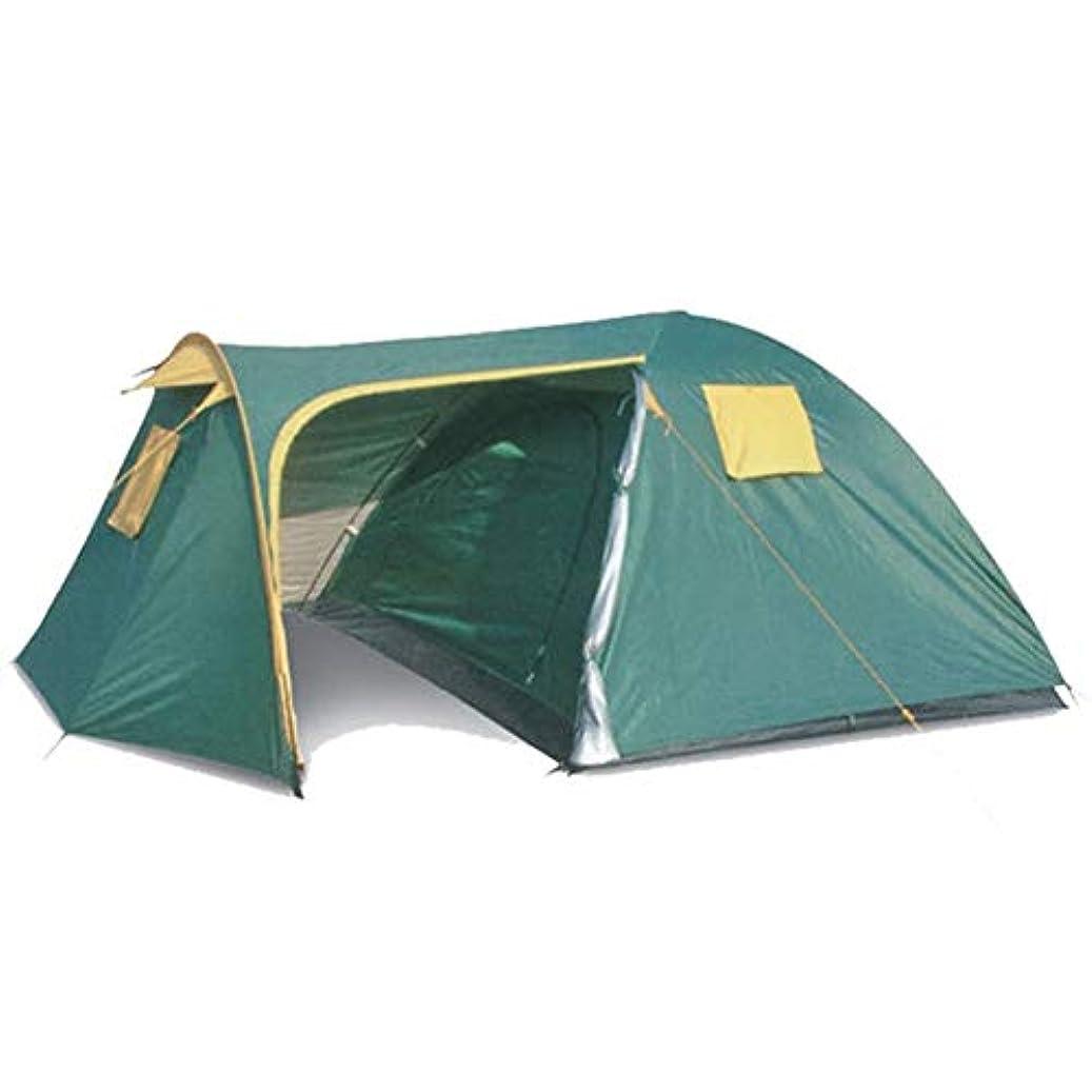 ポンド実行フリース屋外スポーツ用テント、2人用テント1室と1ホールのキャンプ用品耐水性二重層耐性蚊キャンプ登山旅行バックパッキングテント