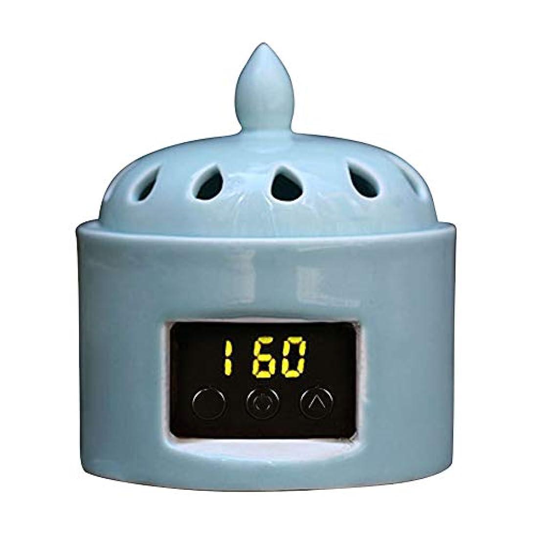 砲撃失礼な誰のアロマディフューザー LCD温度制御 香炉、 電気セラミック 寒天 エッセンシャルオイル アロマテラピーディフューザー、 ホーム磁器、 バルコニー、 ポーチ、 パティオ、 ガーデンエッセンシャル セラミック電気香炉