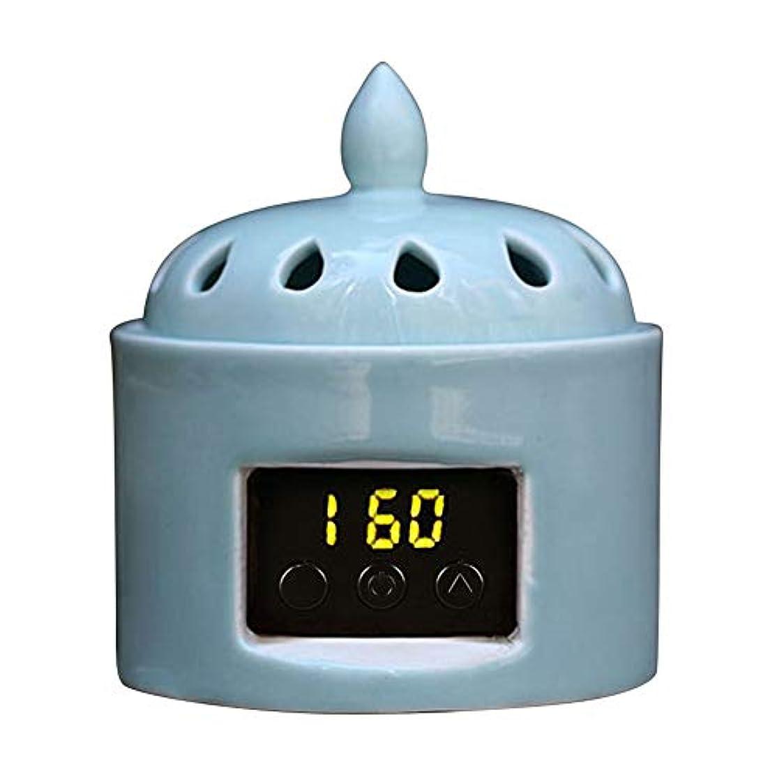 糸お願いします合図アロマディフューザー LCD温度制御 香炉、 電気セラミック 寒天 エッセンシャルオイル アロマテラピーディフューザー、 ホーム磁器、 バルコニー、 ポーチ、 パティオ、 ガーデンエッセンシャル セラミック電気香炉