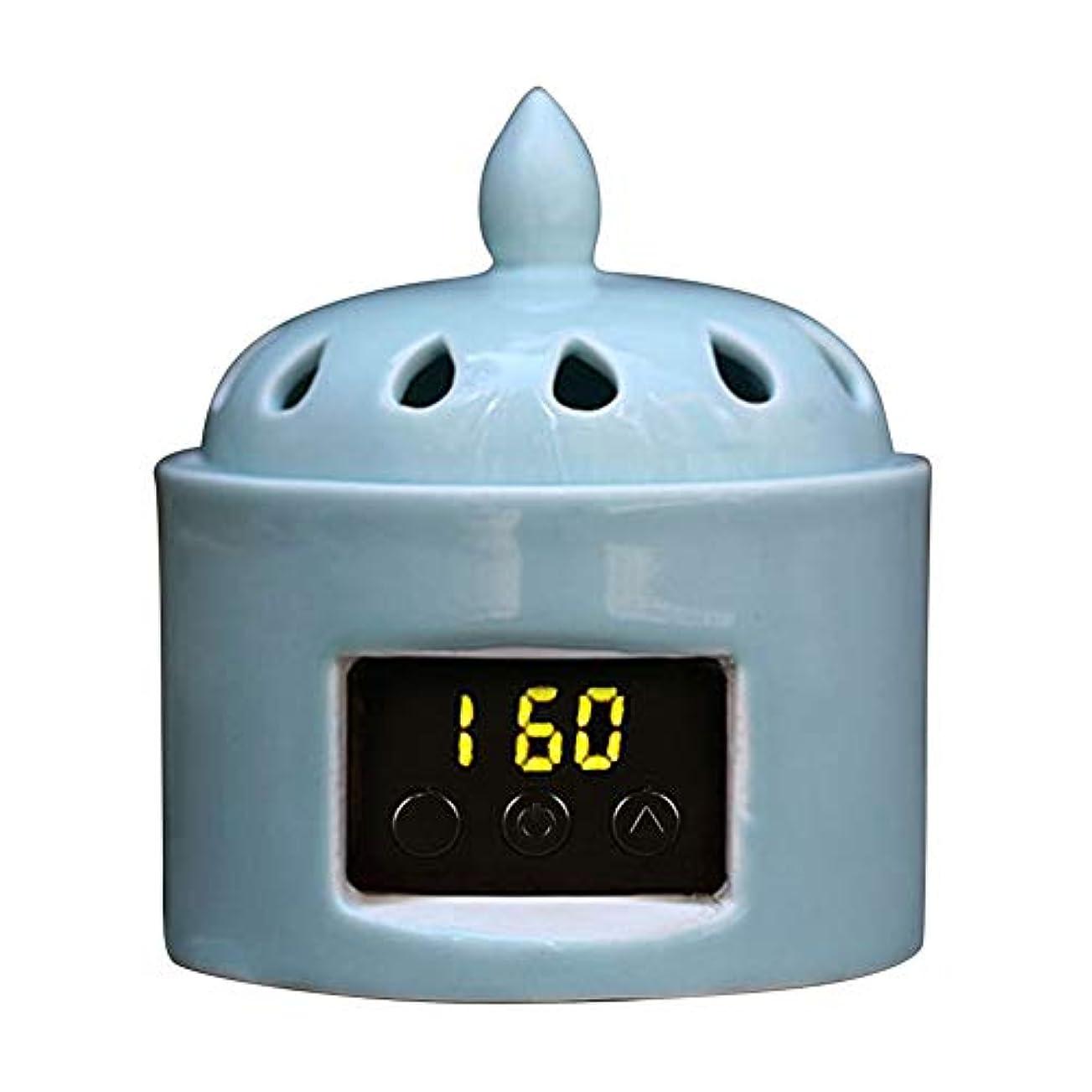 なので簡略化する著作権アロマディフューザー LCD温度制御 香炉、 電気セラミック 寒天 エッセンシャルオイル アロマテラピーディフューザー、 ホーム磁器、 バルコニー、 ポーチ、 パティオ、 ガーデンエッセンシャル セラミック電気香炉