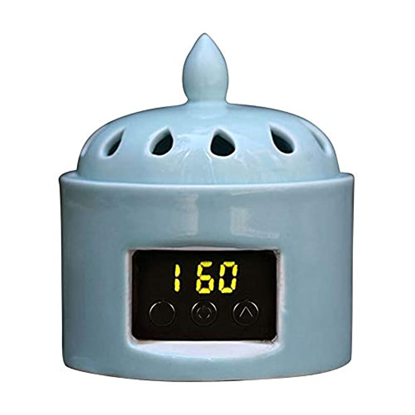 冷蔵庫トレースフォークアロマディフューザー LCD温度制御 香炉、 電気セラミック 寒天 エッセンシャルオイル アロマテラピーディフューザー、 ホーム磁器、 バルコニー、 ポーチ、 パティオ、 ガーデンエッセンシャル セラミック電気香炉