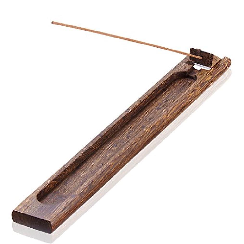 火星フルートアメリカ(02) - UOON Antique Wood Incense sticks Burner Holder Ash Catcher (02)