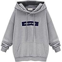 Lisingtool Fashion Women's Long Sleeve Hoodie Sweatshirt Jumper Letter Pullover Tops Blouse