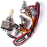 Electric Guitar Circuit Wiring Kit Guitar Circuit Wiring Harness Kit with 3 Box Toggle Pickup Selector 2V/2T/1J fit for LP El