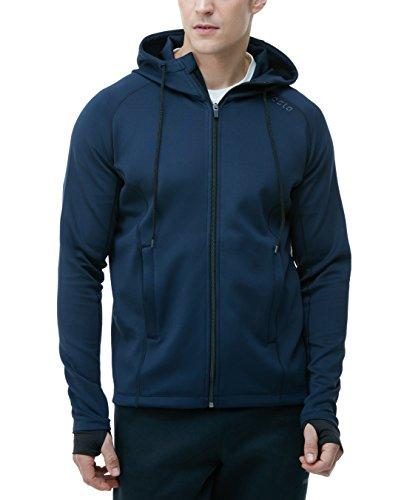 MKJ01-NVY-S(テスラ)TESLA ランニング ジャケット [UVカット・防風]ランニングウェア 長袖 スポーツ ジャージ 上着 【ランニング・サイクリング・トレーニング・サッカー・スキー・スノーボード・サーフィン・ ゴルフウェア】
