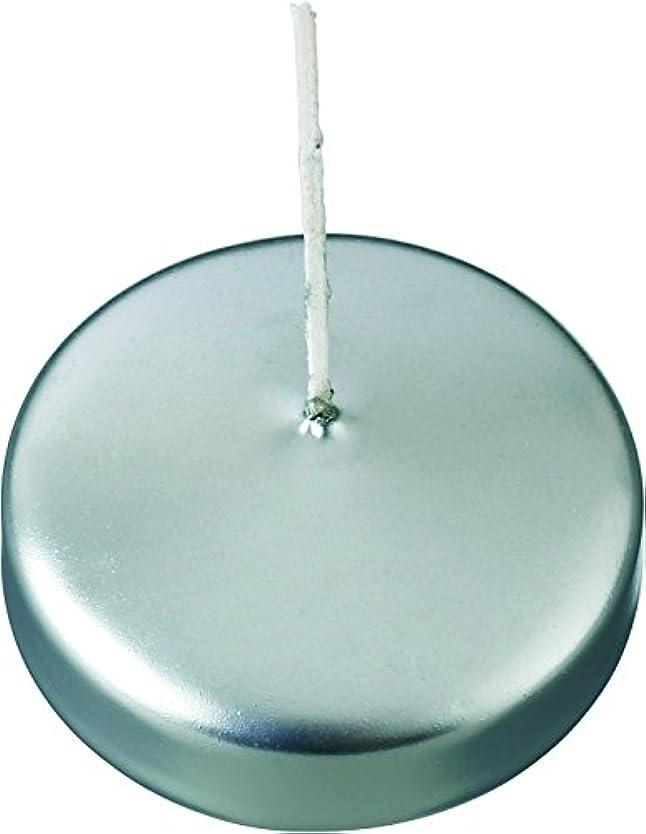 インフレーションしなやか月面カメヤマキャンドルハウス フローティングキャンドル50 シルバー 12個セット