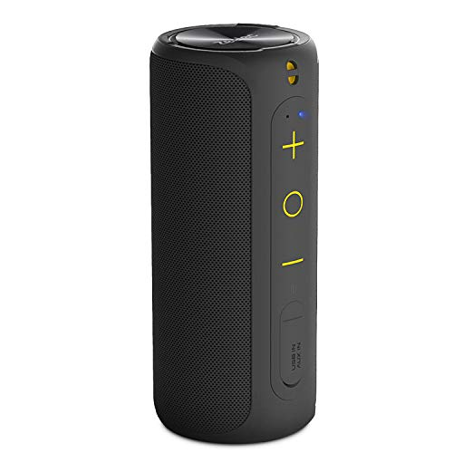Bluetooth スピーカー Zeelec SH4 2 * 6W デュアルドライバー Bluetooth4.2 ワイヤレススピーカー IPX7防水【AUXポート、内蔵マイク搭載、NFC対応】(ブラック)