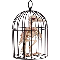 Crazy Bonez Skeleton Crow in Cage by Crazy Bonez