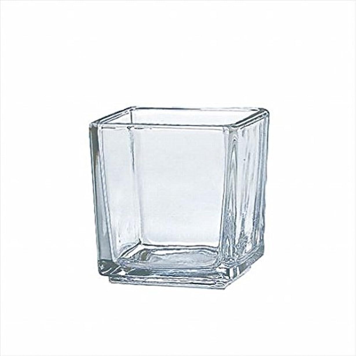 通信する取り替える経験的カメヤマキャンドル( kameyama candle ) スクエアグラスS