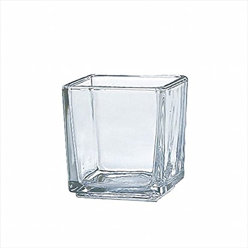 走る足首ショッキングカメヤマキャンドル( kameyama candle ) スクエアグラスS