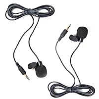 HDE 2 Pack 3.5mm Lavalier Microphone Mini Hands Free Clip On Lapel Mic for Smartphones Cameras Recorders PCs and More [並行輸入品]
