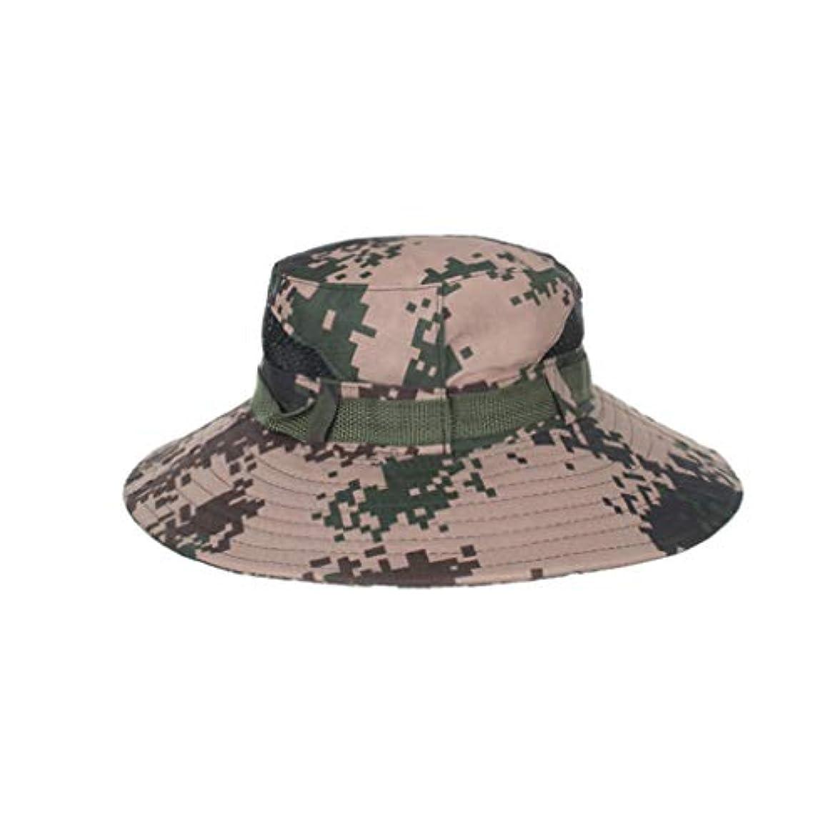 忠実なエトナ山助言する帽子 ハット ファッション夏アウトドアサンハットバケットメッシュハット乾燥釣りキャップ