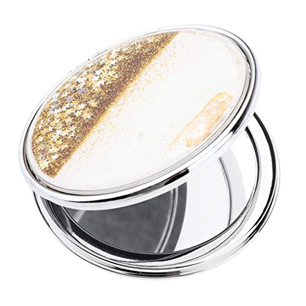 美容師笑いペックT TOOYFUL 手鏡 化粧鏡 コンパクトミラー 軽量 丸型 折りたたみプチ手鏡 ハンドミラー 携帯ミラー キラキラ
