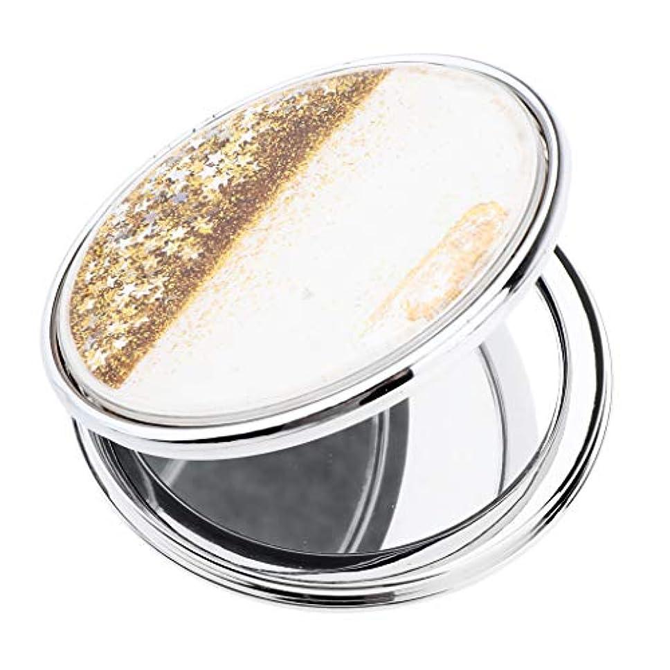 T TOOYFUL 手鏡 化粧鏡 コンパクトミラー 軽量 丸型 折りたたみプチ手鏡 ハンドミラー 携帯ミラー キラキラ