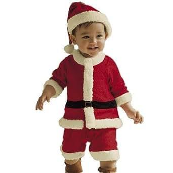 Veroman クリスマス サンタ コスプレ キッズ ベビー コスチューム 仮装 サンタコス (サンタ キッズ90)