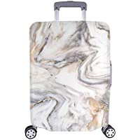 "InterestPrint Luxury Marble Stone Animal Print Travel Luggage Protector Baggage Suitcase Cover Fits 18""-28"" Luggage"
