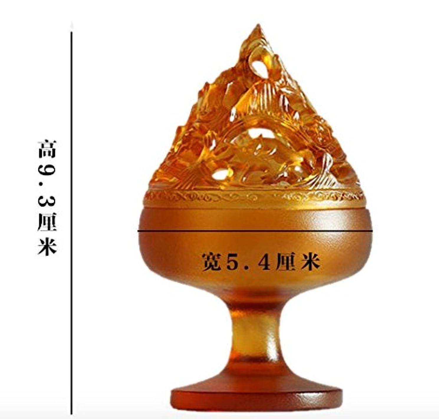 ポルティコ警告山岳【Lenni】仿古博山炉 香道 博物館模倣 瑠璃アロマ香炉 沉香熏香炉