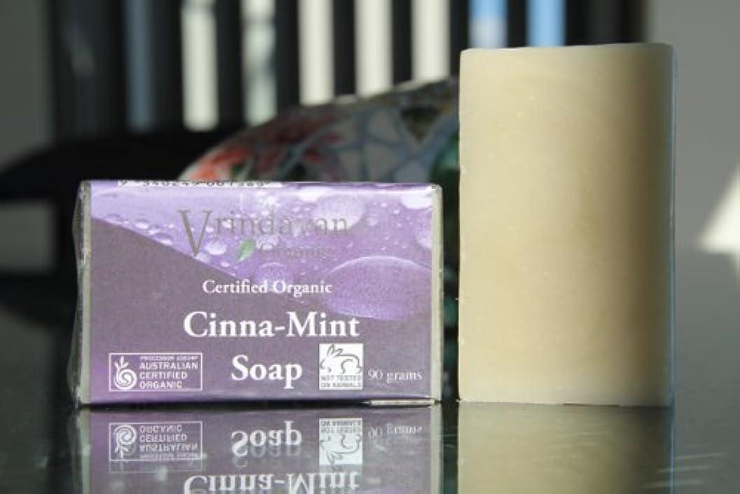 ピア廃止する大工ヴリンダバン オーガニックソープ No.9 Cinnamon Mint