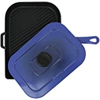 Chasseur 10-inchブルーFrench Enameled Cast Iron Panini Press