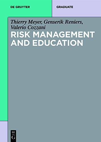 Risk Management and Education (De Gruyter Textbook)