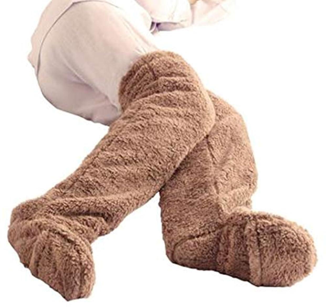 ニュージーランド強化敵ロングカバー ヒートソックス 足が出せるロングカバー 歩きやすい 極暖防寒 男女兼用 ふわふわ ずり落ち防止