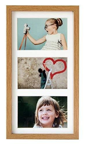 額縁 多面 多窓 7x14インチ(18x35cm)- 3 - KGのサイズ 4x6インチ(10x15cm)写真用アパーチャー写真フォトフ...