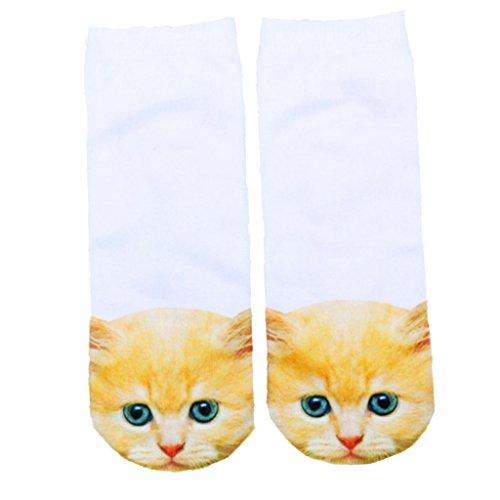 SONONIA女性 かわいい 3D 猫パタン 靴下 動物 アンクルソックス ソックス ソフト 全9パターン - #8