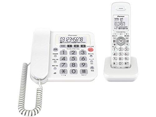 Pioneer デジタルコードレス電話機 子機1台付き 1.9GHz DECT準拠方式 ホワイト TF-SA10S-W