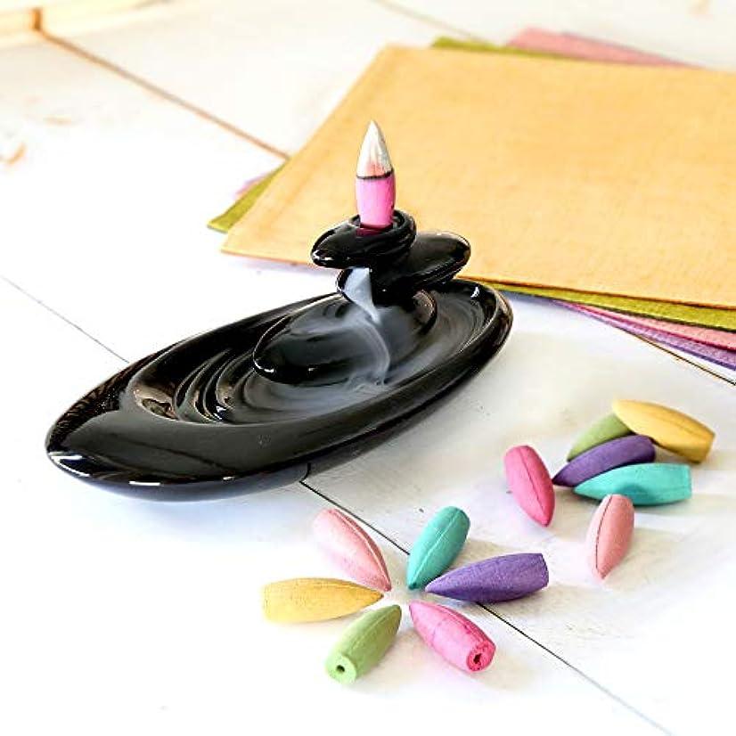 真剣に露ドーム倒流香 香炉 シンプル 6種の香り アロマ香炉 ギフトBOX仕様 アロマインセンス 逆流香 誕生日 プレゼント (通常ラッピング)