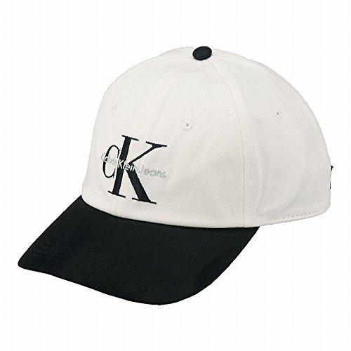 【カルバン・クライン】 Calvin Klein Two-Tone Baseball Cap 43202522 ブラック ホワイト キャップ ストラップバック 【並行輸入品】