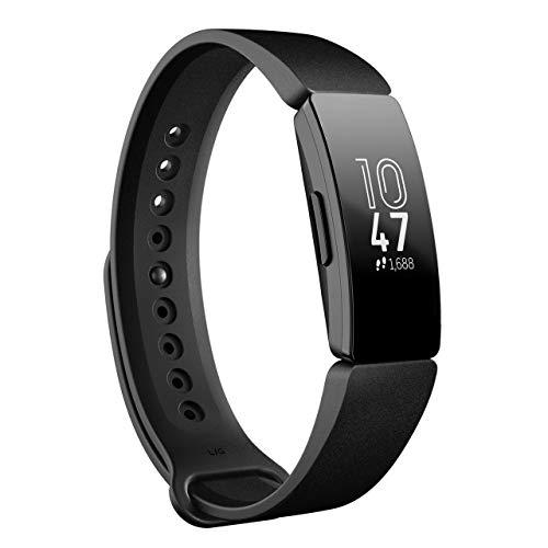 Fitbit フィットビット フィットネストラッカー Inspire 超軽量20g タッチスクリーン操作 耐水50m 着信/SMS/アプリ(LINE/Twitter/Facebook)通知 iOS/android対応 睡眠記録 歩数&距離&カロリー記録 L/Sサイズ【日本正規品】 FB412BKBK-FRCJK