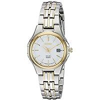 Seiko Women's SUT222 Ladies Dress Solar-Powered Two-Tone Stainless Steel Watch