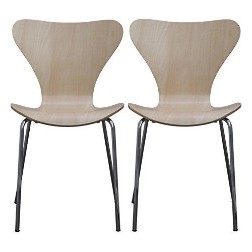 【2個セット】 ottostyle.jp 北欧家具の代名詞! セブンチェア デザイナーズ アルネ・ヤコブセンデザイン (ナチュラル)