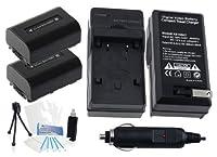 2- Pack np-fv30大容量交換用電池with急速旅行充電器Sony dcr-sx34dcr-sx43dcr-sx44- sx45dcr-sx53–Ultraproボーナス含ま:カメラクリーニングキット、スクリーンプロテクター、ミニカメラ旅行三脚