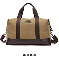 Overmont K1 Canvas Outdoor Camping Hiking Travel Duffel Leisure Bag Case with Shoulder Strap for iPad Smart Phone Wallet