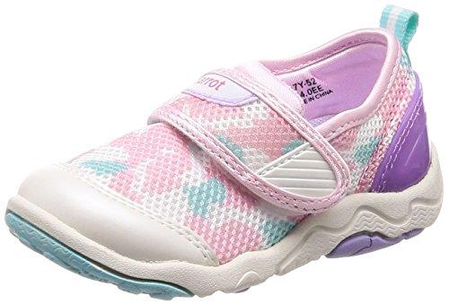 [キャロット] アクアシューズ 速乾 4大機能 子供 靴 マジック 足に優しい 足育 ゆったり CR C2200 ホワイト/ピンク 15 cm 2E