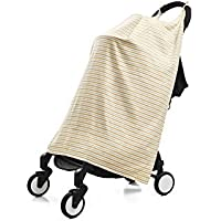 Henry and BROS. Travel Stroller Canopy Baby Blankets For Boys/Baby Blankets For Girls Newborn Baby Blanket Made Of 100% Cotton (Golden Stripes) [並行輸入品]