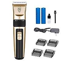 プロのバリカンコードレスバリカントリマー髭かみそり充電式バッテリ LED ディスプレイ男性と家族のための適切な,Gold