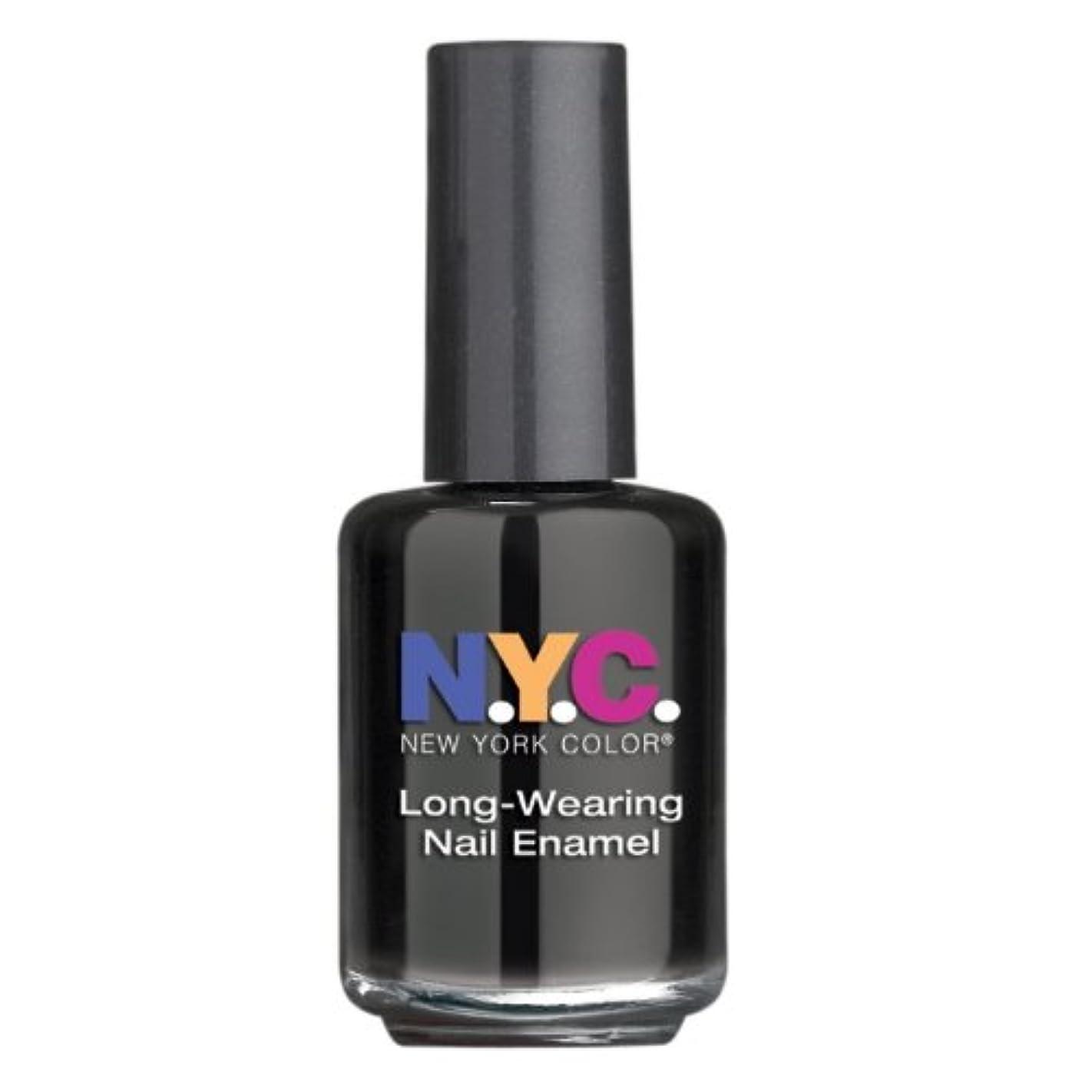 リム最後の手順NYC Long Wearing Nail Enamel - Black Lace Creme (並行輸入品)