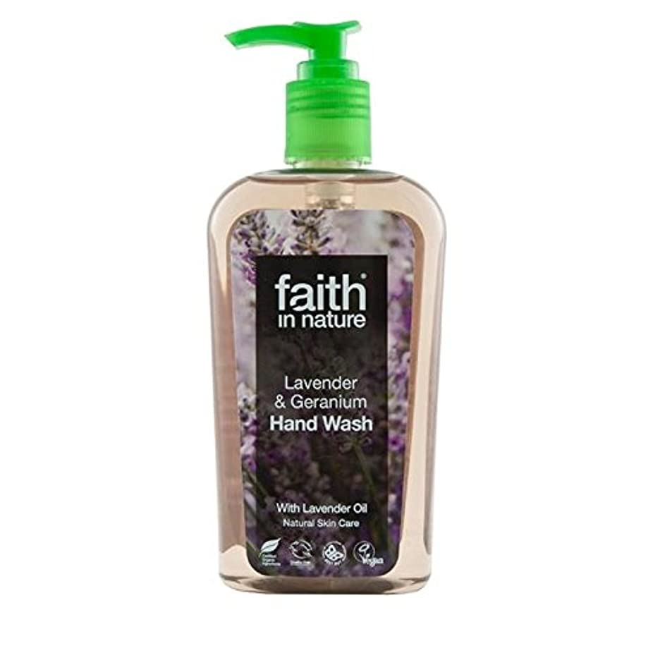 吸収する改革シャベルFaith in Nature Lavender & Geranium Handwash 300ml (Pack of 6) - (Faith In Nature) 自然ラベンダー&ゼラニウム手洗いの300ミリリットルの...