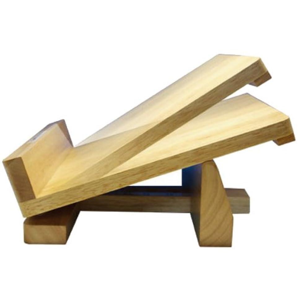 エンディング測定九4段階に調節で無理なくストレッチ『木製ストレッチボード(足首のびのび)』