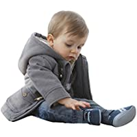 Gaorui Baby-Boys' Warm Fleece Hooded Coat Horn Button Outerwear Snowsuit Jacket