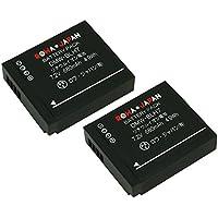 【実容量高】【2個セット】 PANASONIC パナソニック LUMIX GM1 の DMW-BLH7 互換 バッテリー [ 残量表示 & 純正充電器対応 ]【ロワジャパン】