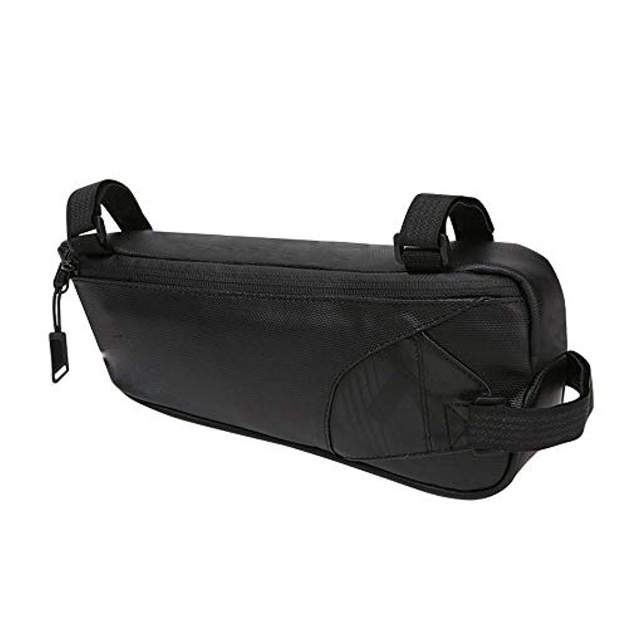 最初は才能不足サイクリングフレームバッグ 屋外MTBのロードバイクのために防水バイク袋のバイクの三角形フレーム袋の防水 電話収納バッグ (Color : Black, Size : 28*12*6cm)