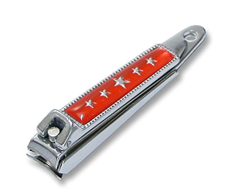 本物幸運狐KC-052RD 関の刃物 関兼常 チラーヌ爪切 小 赤